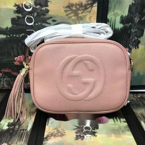 Authentic Gucci Soho Pink Bag Disco with 369073